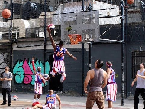 STOMP makes basketball music with Harlem Globetrotters - YouTube