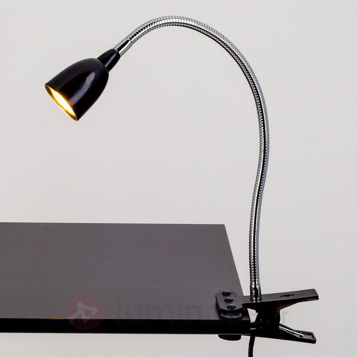 Lampe à pince LED Rabea noire, référence 9643007 - Éclairage idéal pour le bureau - Lampe de bureau à commander en ligne - Livraison offerte dès 99€ d'achats chez Luminaire.fr !