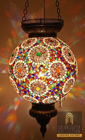 Beautiful, colors of the rainbow, globe chandelier.....so pretty!