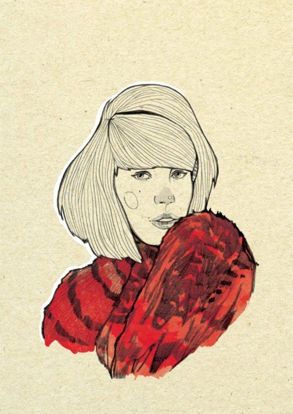 Fashion portraits by Magdalena Pankiewicz, via Behance