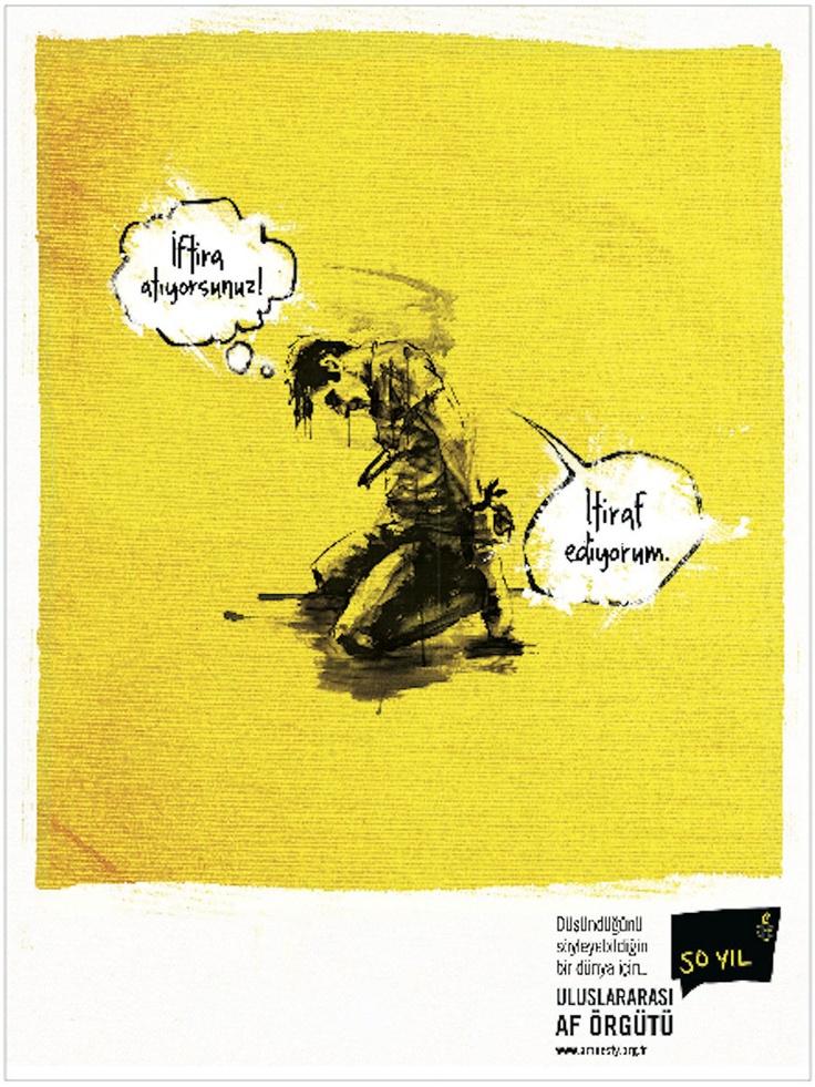 Basında En İyi  Gazete Reklam Kampanyası   Grey İstanbul Uluslararası Af Örgütü - İfade Özgürlüğü Basında