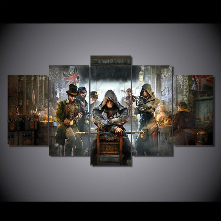 We specialize in high quality large multi panel wall canvas purchase this amazing assassins creed syndicate wall canvas today we will ship the canvas for