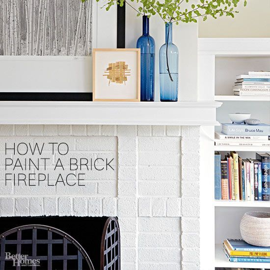 how to make a brick fireplace look better