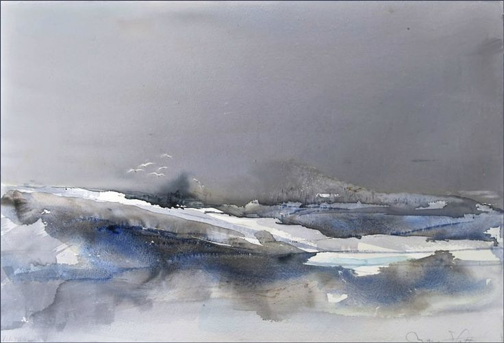 Vinterlandskab 35 x 50