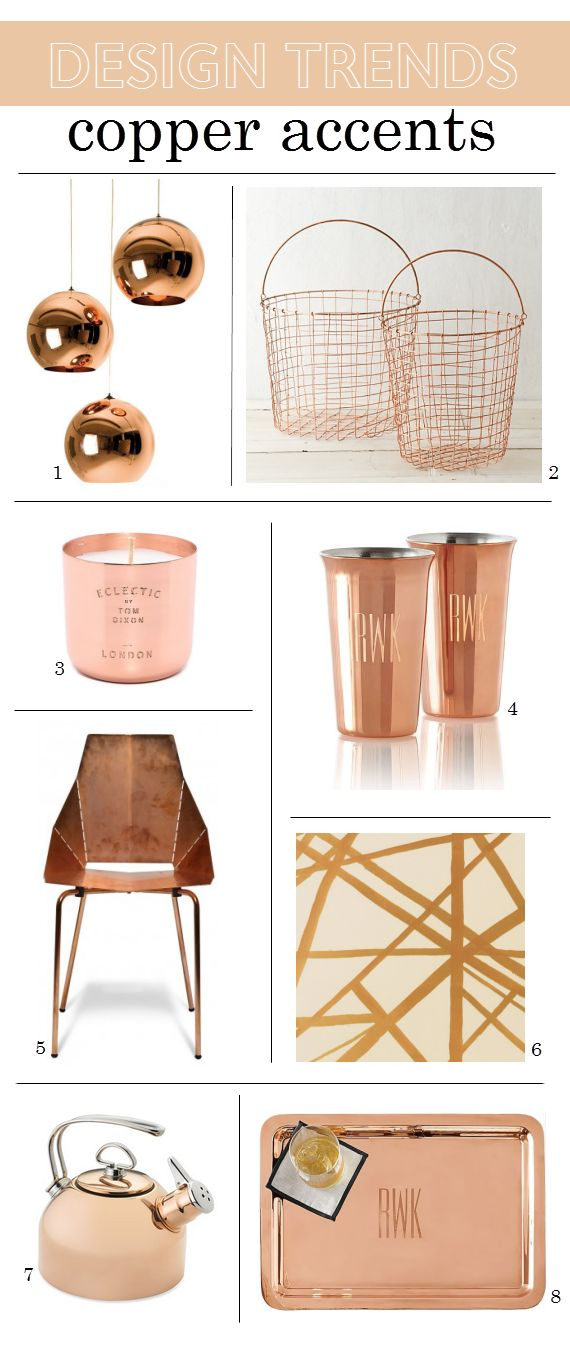 2015 Design Trends Copper Home Accents www