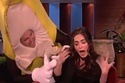 Just Megan Fox gettin scared by a guy in a banana suit, no big whoop