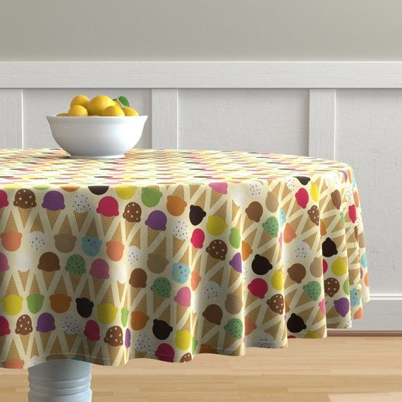 Cone Round Tablecloth – Ice Cream Dream von lellobird – Dessert Food Whimsical S …   – Products