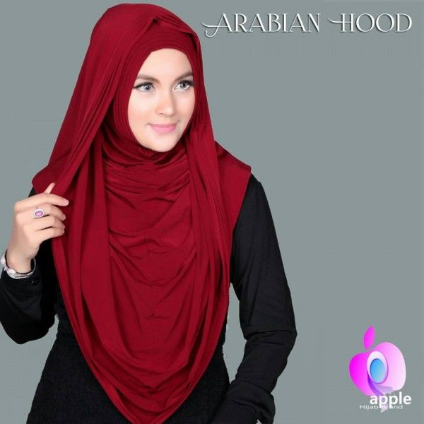 Hijab/Jilbab Instant Arabian Hoodie (Versi Premium).  Jilbab instant model arabian hoodie versi premium, bahan lebih halus, panjang sesuai gambar (sampai perut).  Bahan : spandek rayon super.