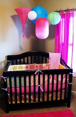 17 best images about baby girl nurseries on pinterest for Creative baby rooms