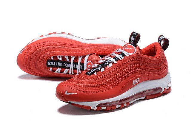 Men's Nike Air Max 97 Premium October Red White Black 312834