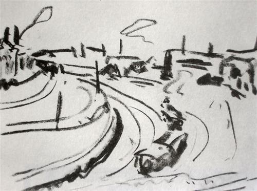 Railway in Dresden - Ernst Ludwig Kirchner