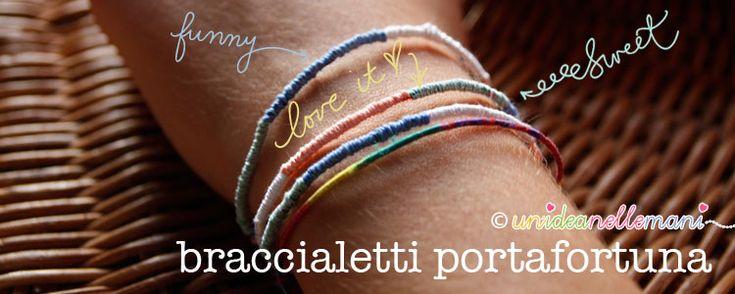 Le 25 migliori idee su braccialetto fai da te su pinterest - Portafortuna fai da te ...