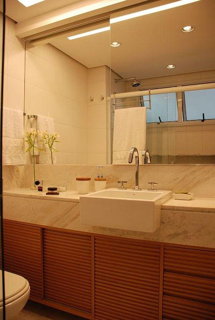 46 melhores imagens sobre banheiros no Pinterest  Madeira, Cuba e Toalhas -> Ideias Para Reformar Armario De Banheiro