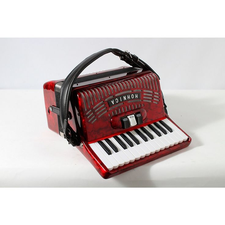 Hohner 48 Bass Entry Level Piano Accordion Red 888366047095