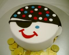 Pirate Face Birthday Cake Recipe - Party food