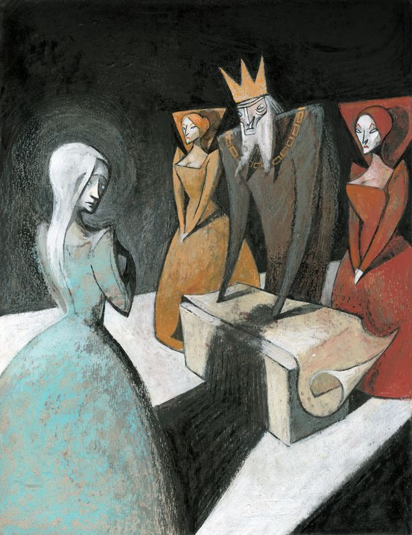 "Maria Surducan illustration for ""King Lear""."