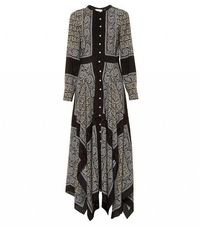 Altuzarra Winnie Long-Sleeved Paisley-Print Dress
