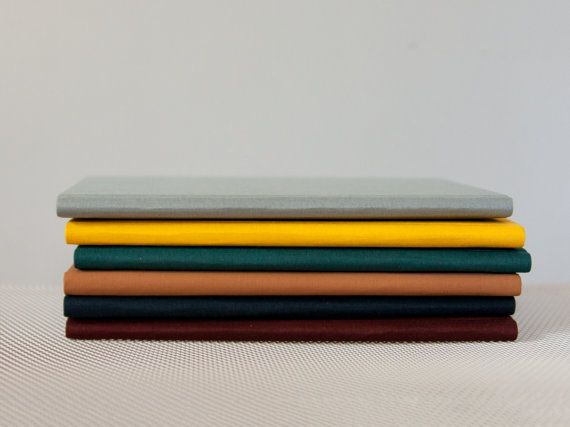 Slim Light Blue Notebook with Round Spine