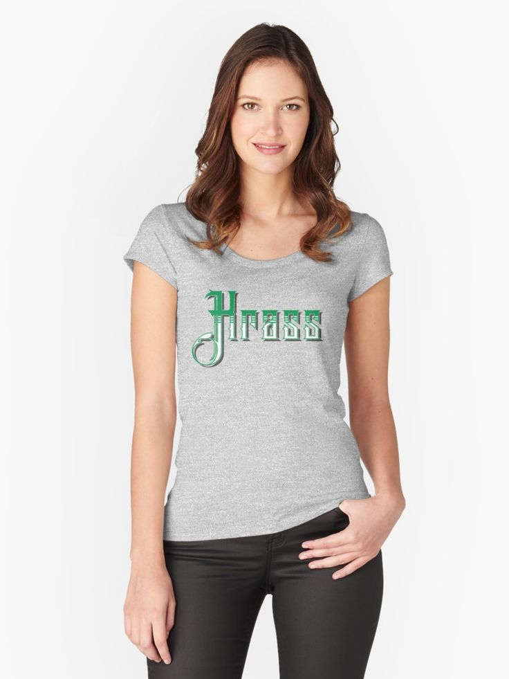 #Krass #German slang for #awesome! Women's fitted scooped neck t-shirt, also available in many more styles of #hoodies and #tshirts #redbubble #slang #dialect