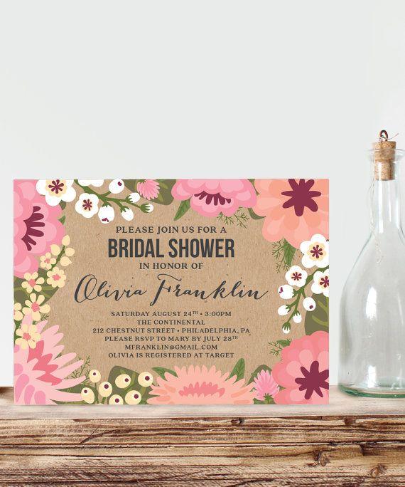 Start planning your bridal shower with this beautiful invitation. We also have Bridal Shower games that match! #bridalshowerideas #bridalshowergames #bridalshower