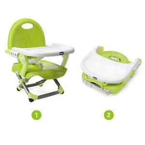 30 - Chicco Rehausseur de table Pocket Snack Lime Rehausseur de Chaise