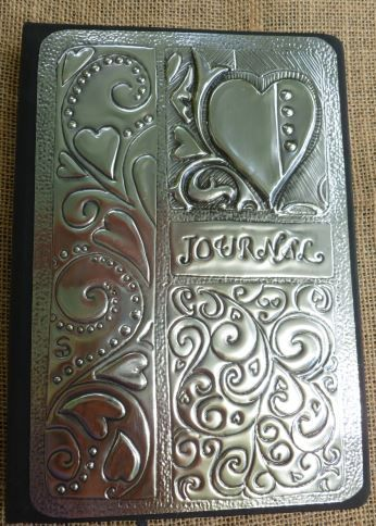 Heart Journal. Hand crafted by Caroline @ Pewter Concepts