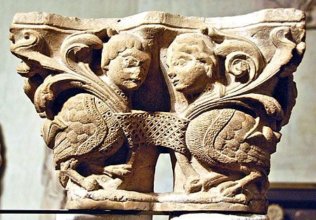"Harpies (now in the Cluny Museum in Paris) from the long gone cloister of the Abbey (now Basilique) of St-Denis - Abbot Suger's ""first Gothic church"""