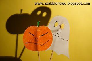 Free printable Halloween shadow theater set