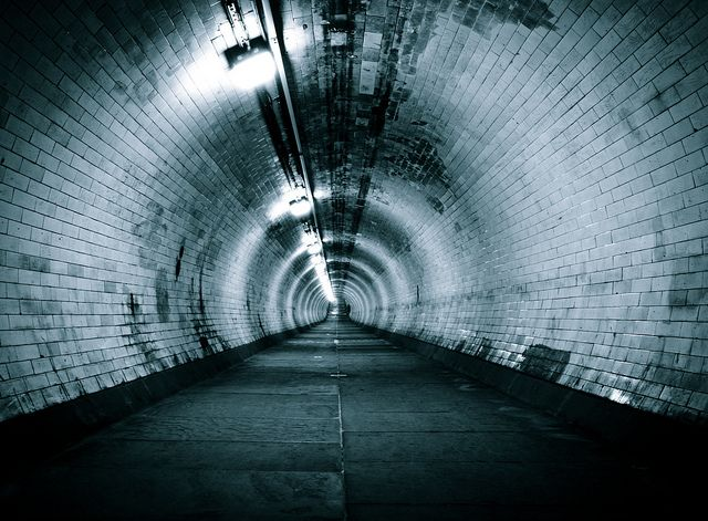 to the underground shelter...
