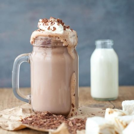 Salted caramel hot chocolate. The perfect winter warmer this Christmas. Visit www.redonline.co.uk for recipe.