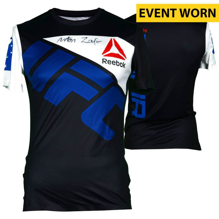 Anton Zafir Ultimate Fighting Championship Fanatics Authentic Autographed UFC 193: Rousey vs. Holm Event-Worn Walkout Jersey - Fought James Moontasri in a Middleweight Bout - $159.99