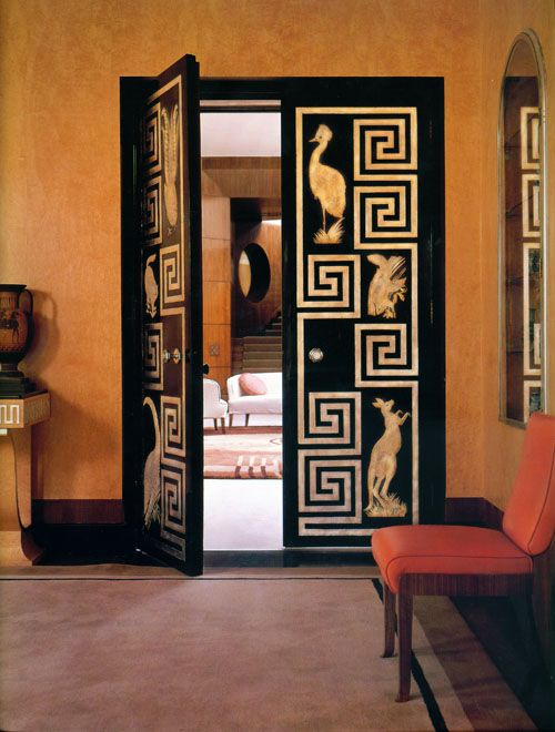 Eltham Palace has a strong Art Deco influence. Space featured in Regency Redux book by Emily Evans Eerdmans.