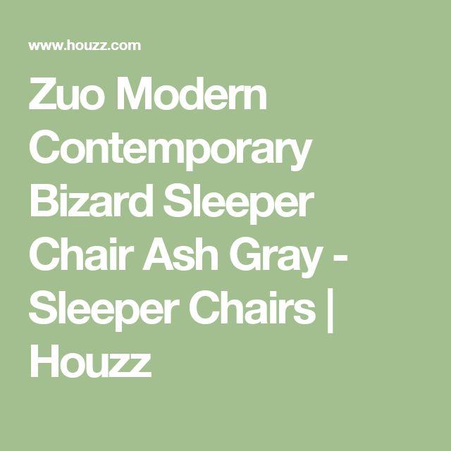 Zuo Modern Contemporary Bizard Sleeper Chair Ash Gray - Sleeper Chairs | Houzz