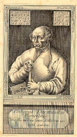 Engraving of Paracelsus. Note presence of magic squares at top of image.  http://en.wikipedia.org/wiki/Paracelsus http://en.wikipedia.org/wiki/Magic_square