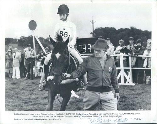 1978 Actors Anthony Hopkins & Tatum ONeal in International Velvet Wire Photo   eBay