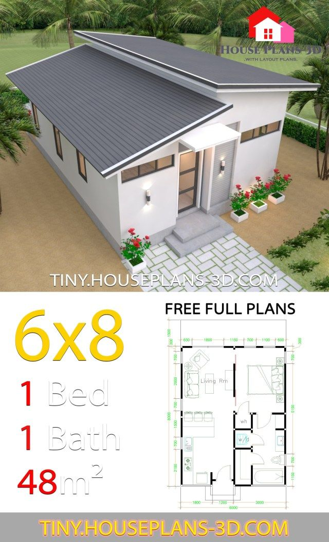 Studio Room House Plans 6x8 Shed Roof Samphoas Plan In 2020 House Plans Tiny House Design Small House Design Plans