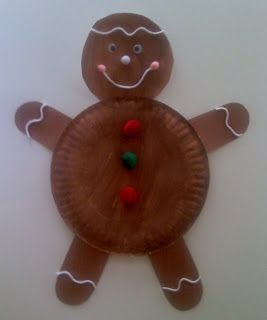 Letter G craft: Gingerbread Man