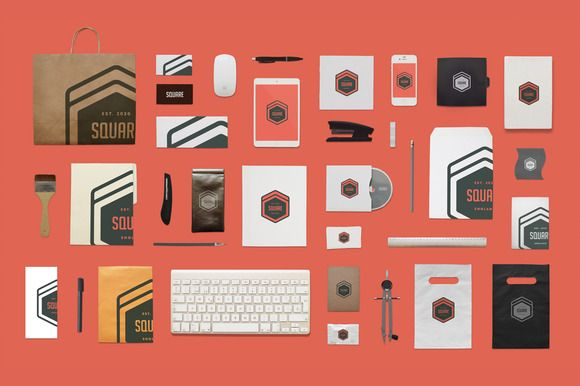 Branding Mock-Up / Stationery by DesignDistrict on Creative Market
