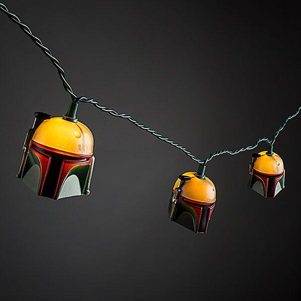 Star Wars Boba Fett Helmet String Lights