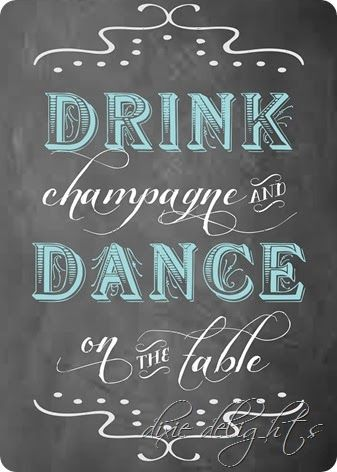 drink champagne free printable