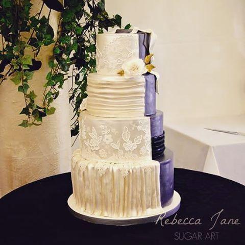 Rebecca Jane Sugar Art Half And Style Wedding Cake Custom Designed To Match The