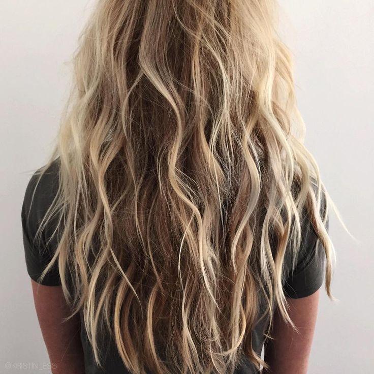 beachy waves. long hair. blonde.