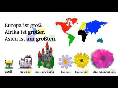 German Grammar: Komparativ & Superlativ TEIL 1 A2    Einstein ist der intelligenteste Physiker - YouTube