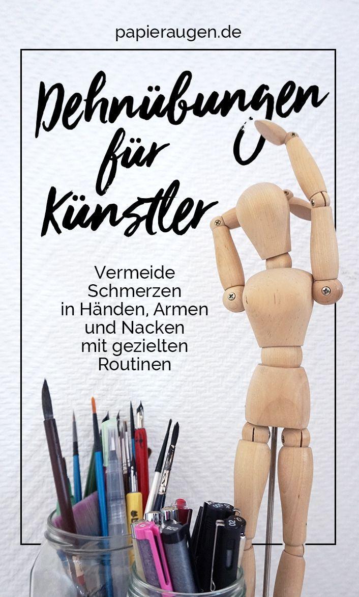 Eine Sammlung von einfachen Dehnübungen für Zeichner – Clarissa Hagenmeyer: Malen und Kreativität!