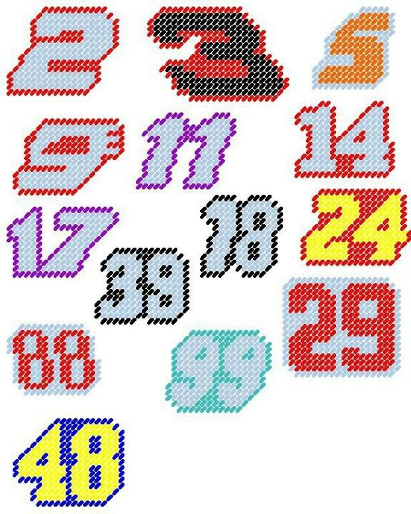NASCAR car numbers patterns
