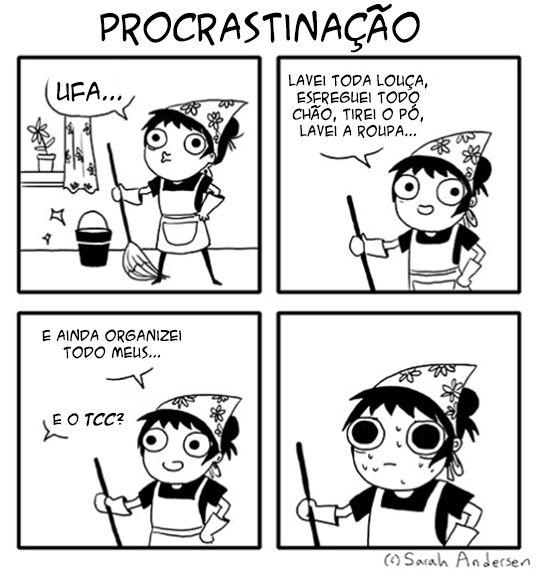A procrastinação pode ocorrer até mesmo para indivíduos atarefados.