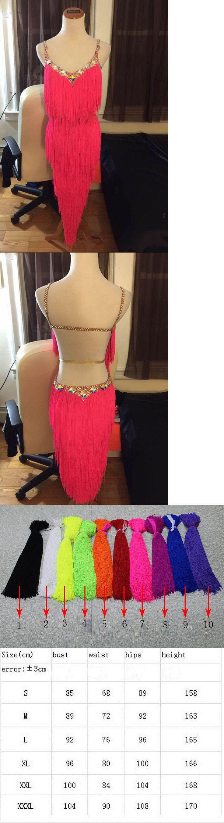 Dancewear: Tassel Latin Dance Salsa Tango Cha Cha Ballroom Rhinestone Competition Dresses -> BUY IT NOW ONLY: $79.99 on eBay!