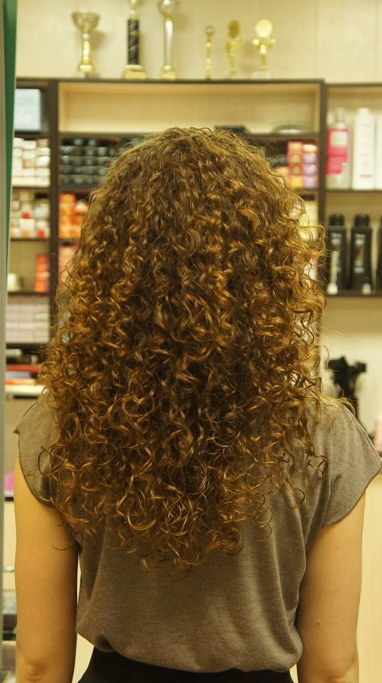 tight curl in permed long hair
