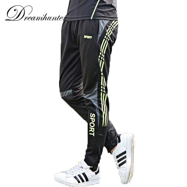 Discounted $11.89, Buy Straight trousers plus size M-3XL men's football training fitness running pants quick dry breathable outdoor leisure sports Pant