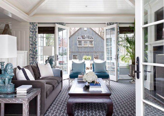 Love the ceiling: House Of Turquoise, Doors, Living Rooms, Color, Children, New England Style, Eastman Interiors, Tiffany Eastman, Traditional Families Rooms